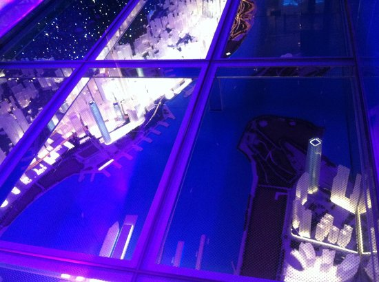 Glass floor representing the victoria harbour picture of for Glass deck floor