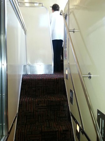 Pullman Rail Journeys: Stairs leading up to the dinning room tight tight