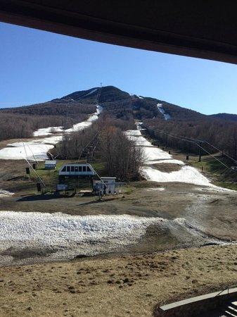 The Tram Haus Lodge at Jay Peak Resort : View of Jay Peak from room 406 in Tram Haus