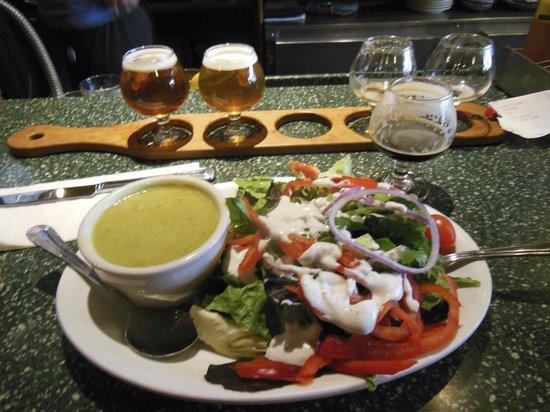 Carver Brewing Co. : Salad & Pea Soup