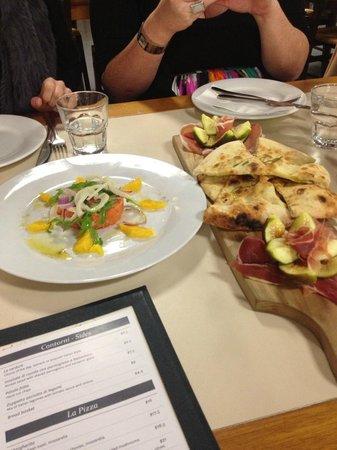 La Bella Italia: Antipasto and Salmon tartare