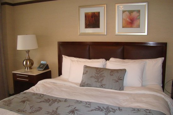 The Belvedere: King size bed
