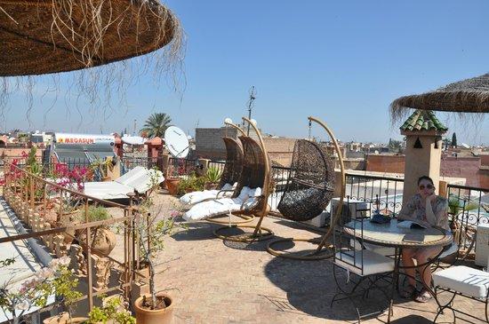 Riad Mur Akush: The terrace.