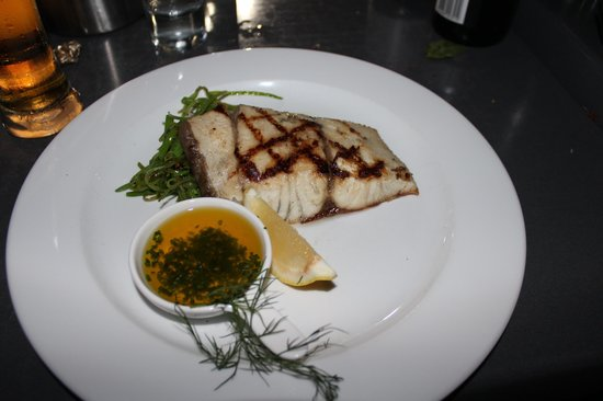Rock Salt: Fish of the day, lemon chive butter and seared snow peas