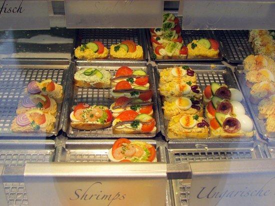 Duran Sandwiches: open sandwich display