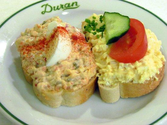 Duran Sandwiches: egg and horseradish