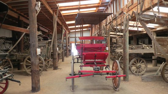 Laws Railroad Museum: Carriage barn