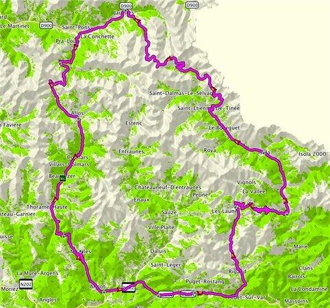 P'tit Dej-Hotel Gap Le Pre Vert: Route de Bonnette