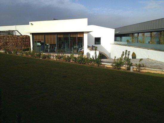 Pestana Cidadela Cascais: Sicht von der Veranda auf den Fitnessraum
