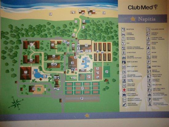 Club Med Napitia: Le plan du site