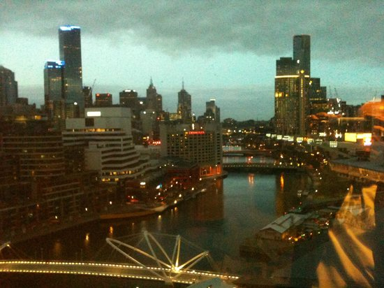 Pan Pacific Melbourne: view from the full length bedroom window