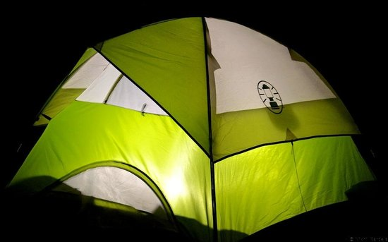 Letscampout Kashid Campgrounds : Kashid Campsite - Tent (Night)