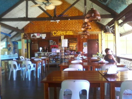 Caves Dive Resort: restaurant