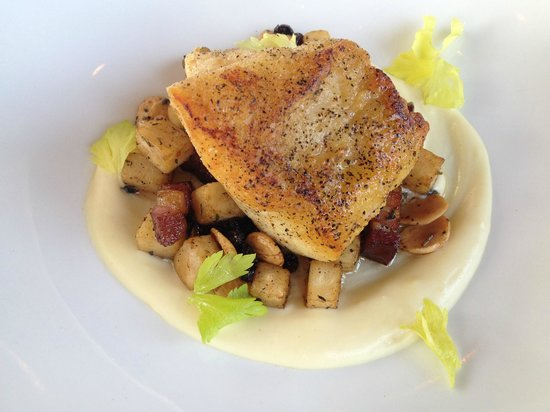 Black Sheep: Special of Grilled Grouper served over Celery Puree.