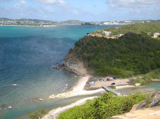 Fort Barrington : Looking back at St. John's harbour