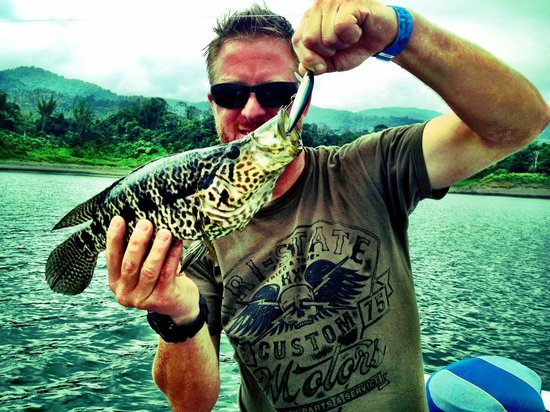 Captain Ron's Lake Arenal Fishing Tours: Rainbow Bass caught on Captain Ron's Lake Arenal Fishing Trip!