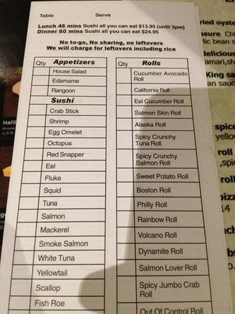Lily Asian Restaurant: AUCE Tuesday menu pic 2