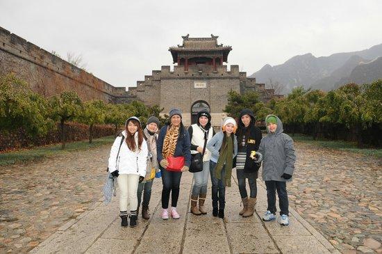 Great Wall at Huangya Pass (Huangyaguan Changcheng): The group at entrance