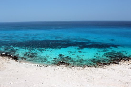 Socotra Island, Yemen: The ethereal waters of Qalansiyah beach.
