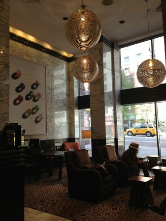 Dumont NYC–an Affinia hotel: The hotel lobby