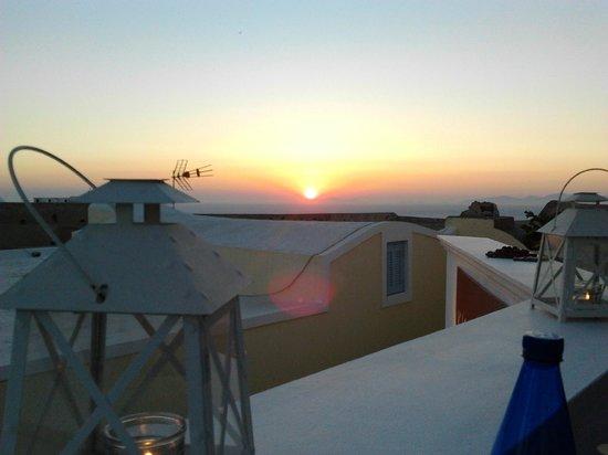 Kyprida Restaurant: Tramonto ad Oia