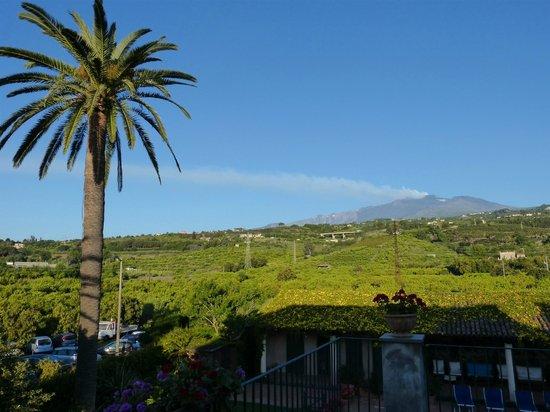 Etna Hotel: vue matinale sur l'Etna