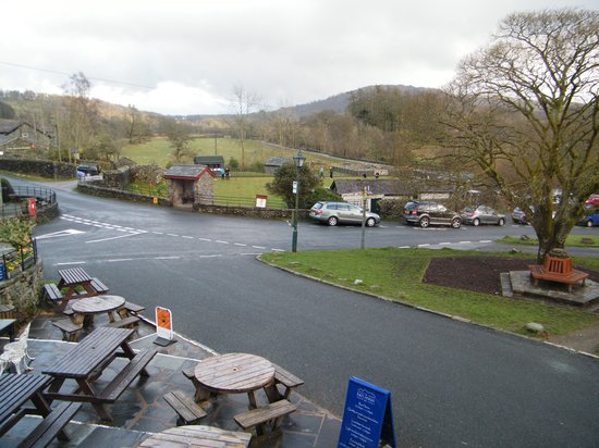 The Britannia Inn: View from the bedroom window.