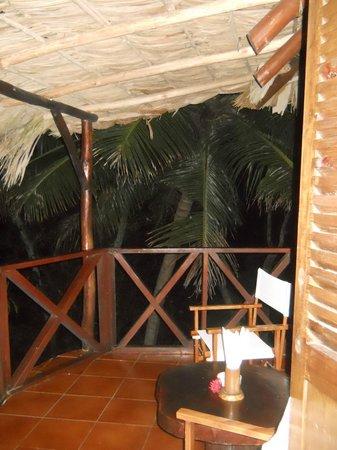 Chauve Souris Relais: Terrazzino vista mare della camera Creola