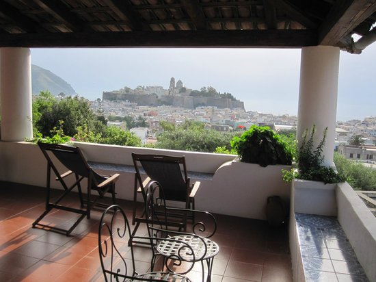 Villa Diana: view from the breakfast terrace in the morning