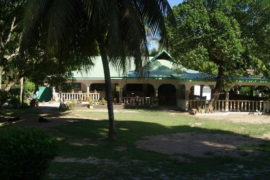 Tournesol Guesthouse: l'accueil et le restaurant