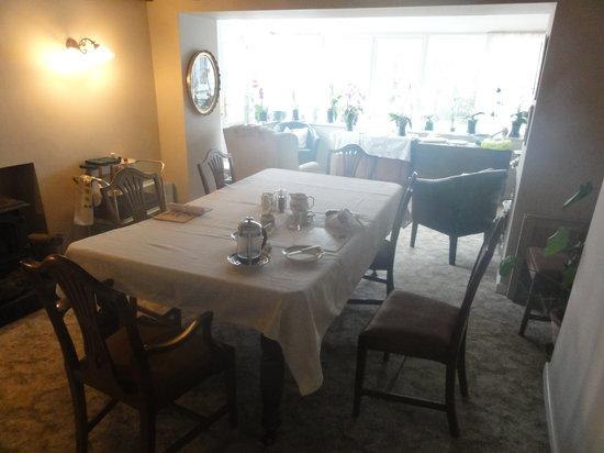 Cwm Llwynog: Breakfast & dinner taken here