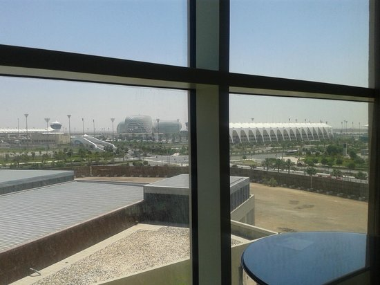 Centro Yas Island Abu Dhabi by Rotana: View to the right including the other F1 Grandstand
