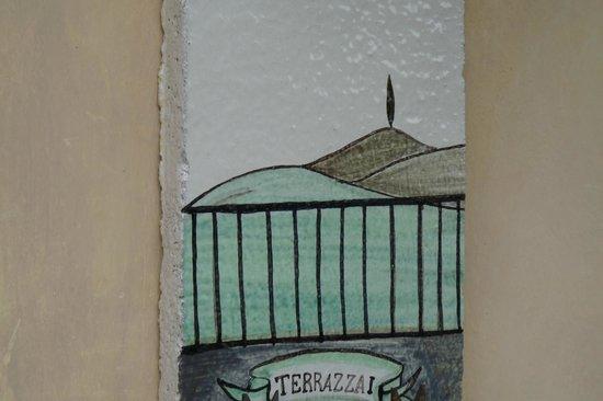Borgo Grondaie: la plaque de la chambre