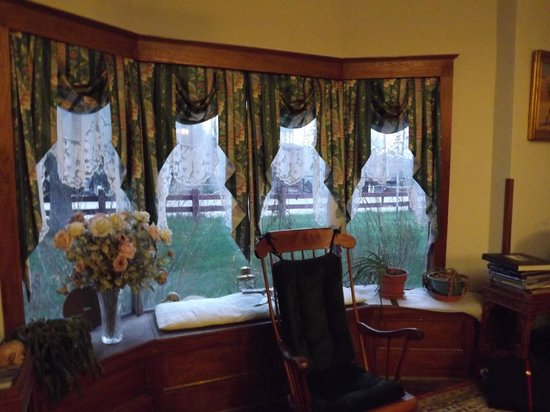 The Parlor Car Bed & Breakfast: The beautiful bay windows at the front of the house.
