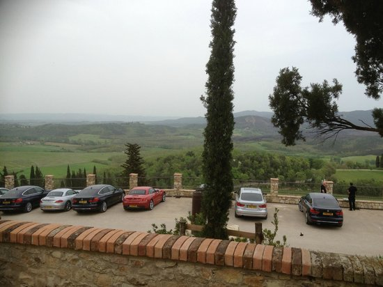 Castello di Casole Private Estate & Spa: View from the car park