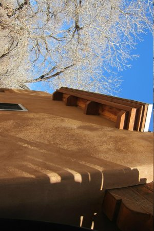 Abiquiu Inn: Love those SW shadows on the adobe