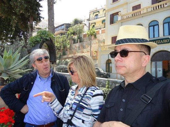 Sicily Tours & Taxi Taormina: Roberto stands ready to answer questions. Prepare to be awe struck by stunning Sicilian landscap