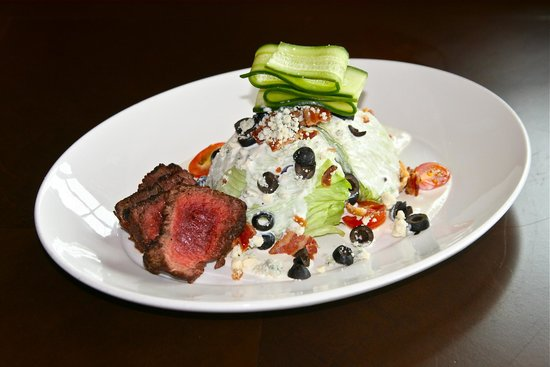 Level 2 Steakhouse: Lunch Wedge Salad with Tenderloin