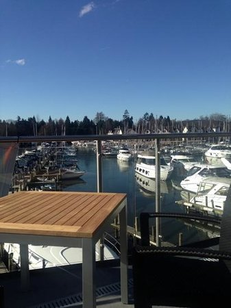 The Boathouse Bar & Restaurant: view from upstairs restaurant