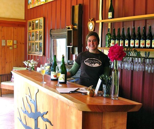 Chimacum, WA: In the Finnriver tasting room