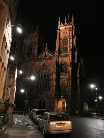 Abbeyfields: The Minster by night
