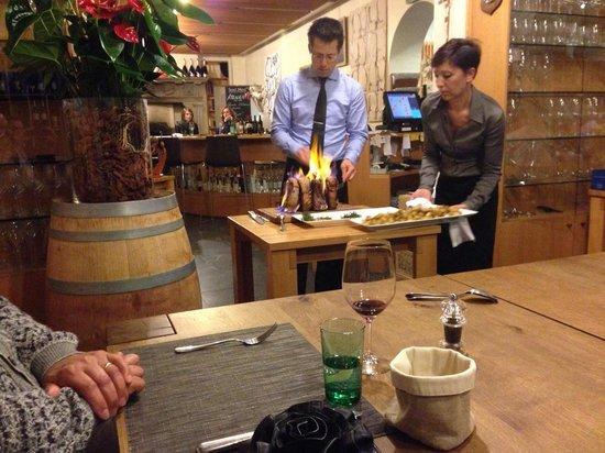 Atenaeo del Vino: Fuoco e fiamme