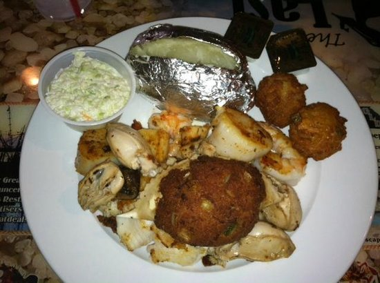 Last Catch Seafood Restaurant: One of the platters