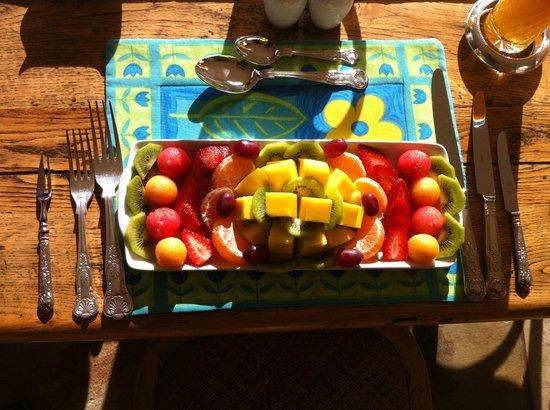 Blaauwheim Guest House: Fruitplatter