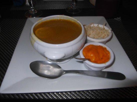 Restaurant le MArseillais : soupe de poisson