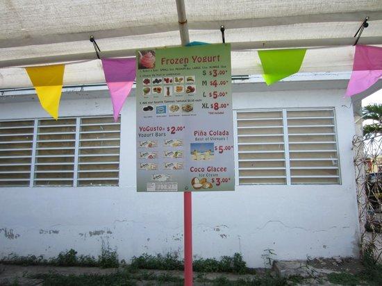 Awesome! Yogurt: Half of the menu