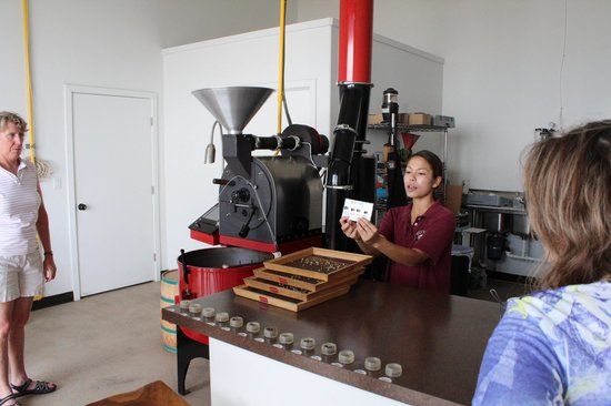 Hula Daddy Kona Coffee: Roasting room.  No roasting was occurring during our tour, but they explained it well.