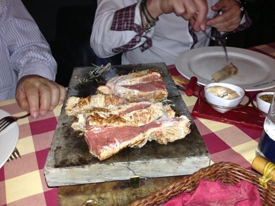 Restaurant La Cantinella: Filetto alla poetra
