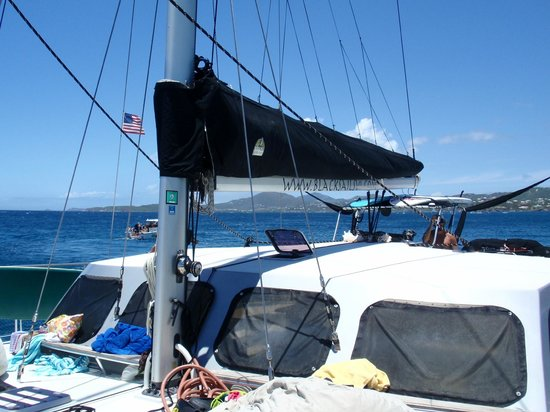 Kekoa Sailing Expeditions: Captain Jamison at the helm