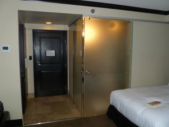 Hotel Duval, Autograph Collection: Bathroom sliding door closed.